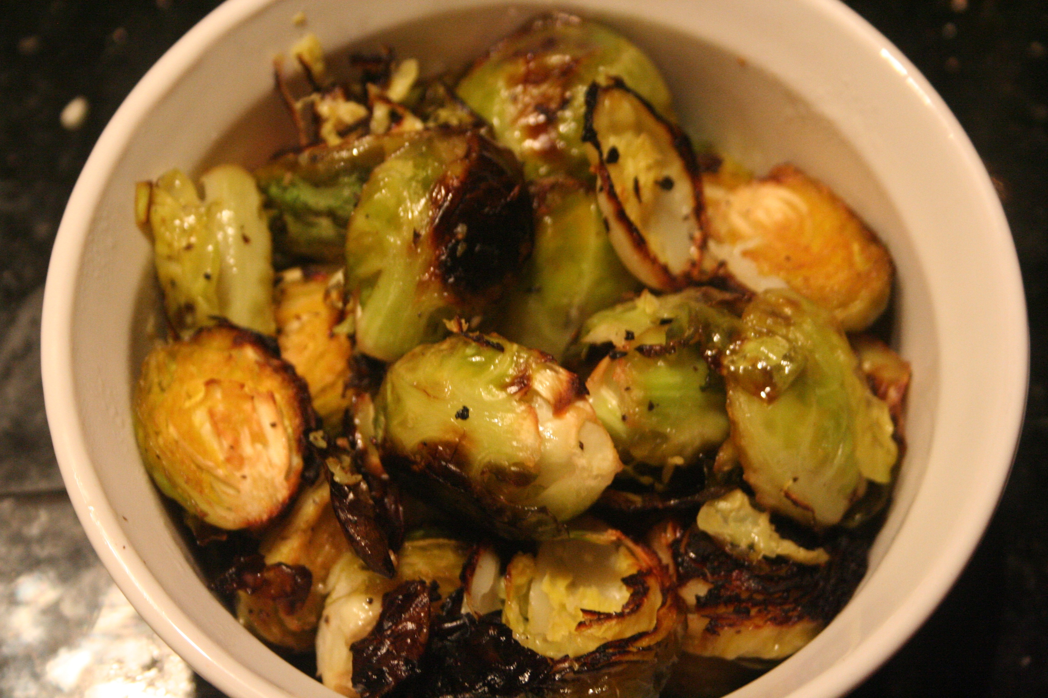 Crispy Lemon Roasted Brussels Sprouts | fueled by vegetables