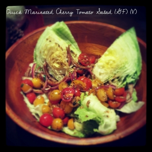 Quick Marinated Cherry Tomato Salad
