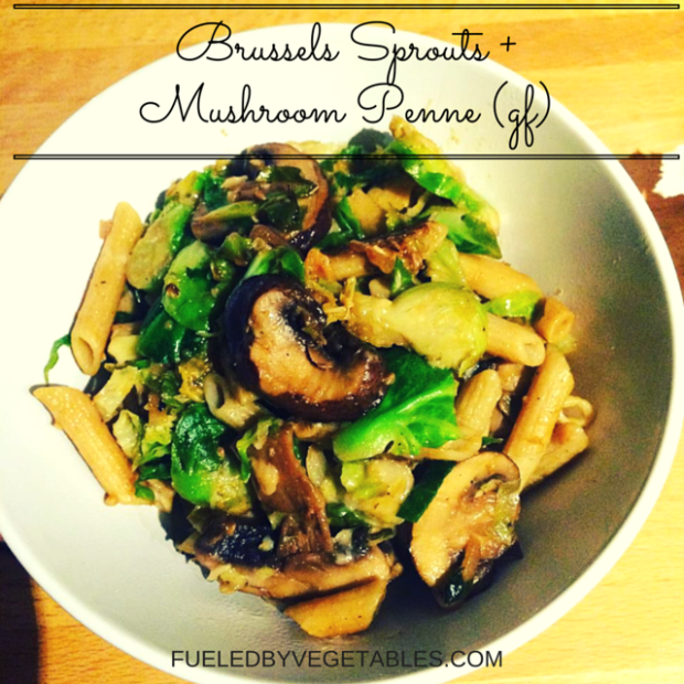 mushroom brussels sprouts pasta