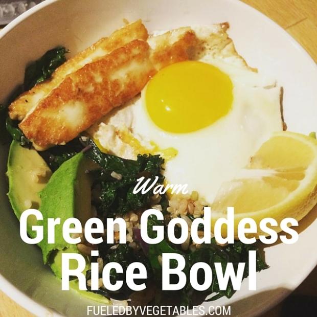 warm green goddess bowl